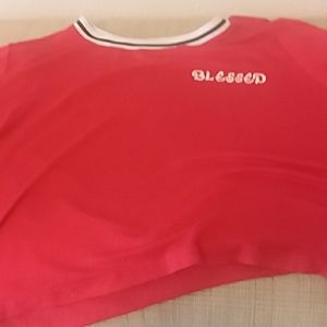 Red Blessed Crop Top